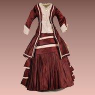 Gorgeous Burgundy Dress for French Fashion