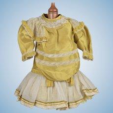 Elaborate Dandelion Yellow Dress for French Bebe