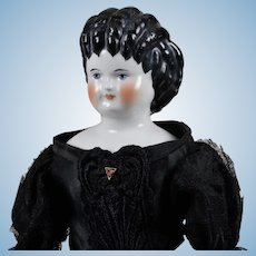 """Beautiful """"Curly Top"""" Emma Clear China Doll - 16 Inches"""