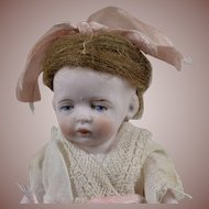 Sweet Little Hertwig All Bisque Doll - 4.5 Inches