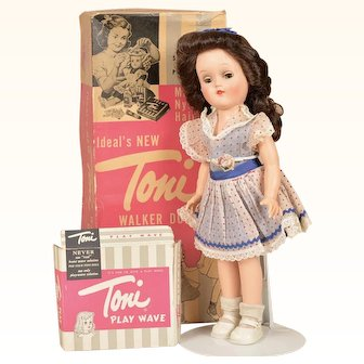 Fabulous Vintage MIB Ideal Toni Walker w/ Wave Set - 14 Inches