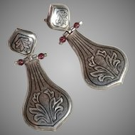 Vintage pierced earrings India 1970es sterling silver 925