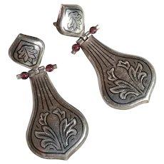 Vintage pierced earrings India 1970es sterling silver 925