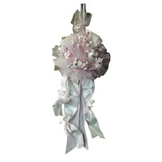 Vintage Millinery Flowers Door Hanger Bouquet to Announce Birth Italy 60s (number 1)