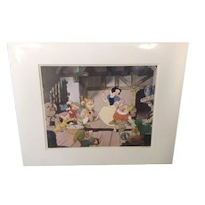 Disney Art Corner Animation Celluloid Litho Print Snow White - Matted - 1960's