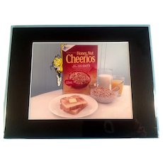 Honey Nut Cheerioes Bee Hanging On Box Animation Production Cel with Photographic Background