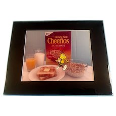 Honey Nut Cheerioes Bee Walking Animation Production Cel with Photographic Background and Matching Pencil Drawing