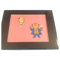 Bert and Harry Animation Production Cels-Set of 2 - with 1 Matching Pencil Animation Drawing