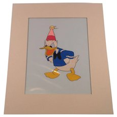 Disney Donald Duck Production Cel- Handinked With Gold Seal