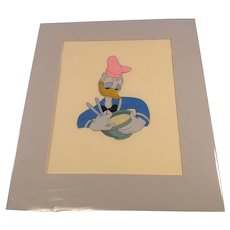 "Disney Donald Duck "" Chef Donald "" Production Cel- Handinked"
