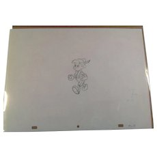 Disney Animation Production Pencil Drawing of Pinocchio