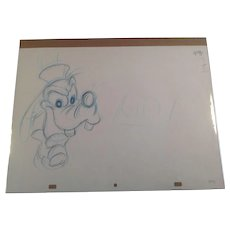 Disney Animation Production Pencil Drawing of Goofy - Large Close Up Image