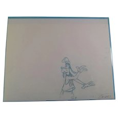 Disney Animation Production Pencil Drawing of Goofy
