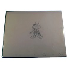 Disney Animation Production Pencil Drawing of Mickey Mouse Full Figure