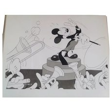 "Vintage Disney B/W Movie Still from "" The Symphony Hour ""- Mickey Mouse - 1940's"
