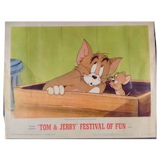 Tom and Jerry Vintage Lobby Card