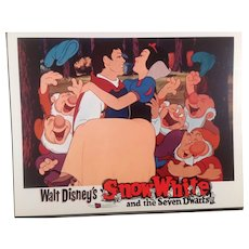 "Disney "" Snow White"" Re-Release Lobby Card #3 Animated Cartoon Feature"