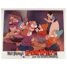"Disney "" Snow White"" Re-Release Lobby Card #4 Animated Cartoon Feature"