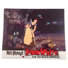 "Disney "" Snow White"" Re-Release Lobby Card #5 Animated Cartoon Feature"