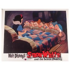"Disney "" Snow White"" Re-Release Lobby Card #8 Animated Cartoon Feature"