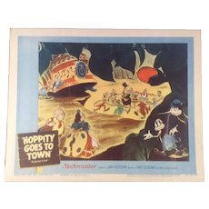 "Vintage Lobby Card #4 Rare Original. "" Hoppity Goes To Town "" 1941 Animated Feature by Max Fleischer"