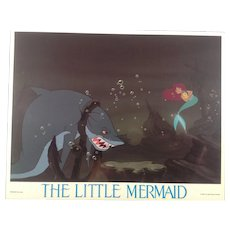 Vintage Little Mermaid Lobby Card #3 - 1989