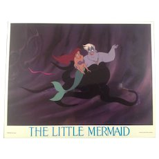 Vintage Little Mermaid Lobby Card #4- 1989