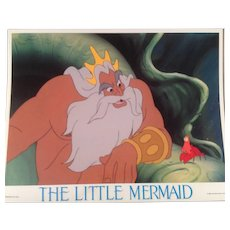 Vintage Little Mermaid Lobby Card #7 - 1989