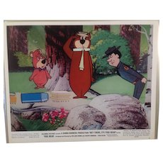 """Vintage Color Movie Photograph """" Hey There It's Yogi Bear """" -#3 - 1964"""