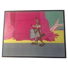 Wile E. Coyote Animation Production Cel and Matching Animation Drawing - Tom Ray - 1960's