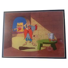 Yosemite Sam Cheerioes Animation Production 3 Cel Setup and Drawing - 1960's