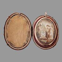 18th Century, Georgian, Neoclassical Mourning pendant