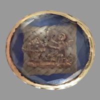 A late 17th century sentimental stuart crystal slide
