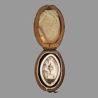 18th Century White Enamel Mourning ring