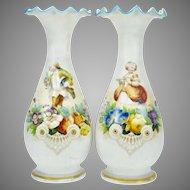 Pair of Bristol vases