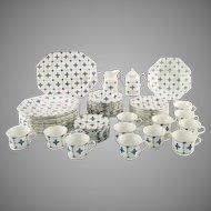 J&G Royal Staffordshire Dinnerware set Homespun ironstone 64 pieces