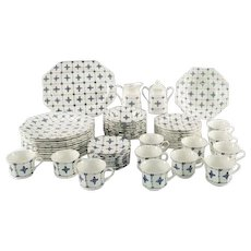 J&G Royal Staffordshire Dinnerware set Homespun ironstone 64 pieces