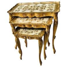 Mid Century Florentine Nesting Tables