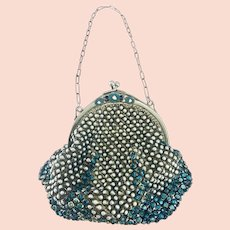 1930 French Made Rhinestone Mesh purse
