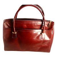 Vintage Salvatore Ferragamo Burgundy Satchel Handbags