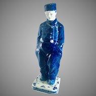 Delft Blue Man Figurines