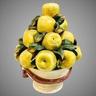 Vintage Mid Century Topiary Of Apples Centerpiece