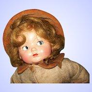 """16"""" Effanbee Composition Baby Bright Eyes, Flirty Eyes, A/O"""