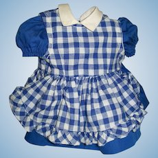 """Sweet 2 Piece Blue and White Pinafore Dress for 16"""" Terri Lee"""