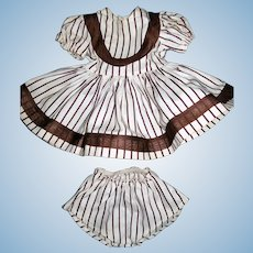 """Sweet 2 Piece Striped Dress and Matching Panties for 16"""" Terri Lee"""