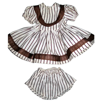 "Sweet 2 Piece Striped Dress and Matching Panties for 16"" Terri Lee"