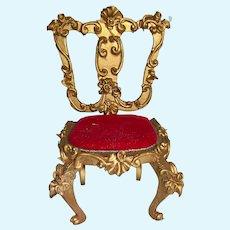 Spielwaren Szalasi Germany Rococo Dollhouse Wood Gilt Side Chair 2