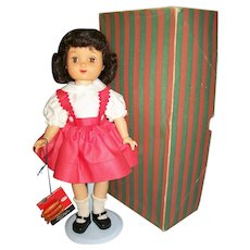 """14"""" Ideal Betsy McCall Doll with Wardrobe, Bed, Orig. Box, Tag & Curlers"""