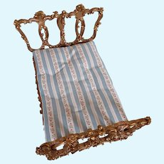 Spielwaren Szalasi Germany Rococo Doll House Wood Gilt Bed