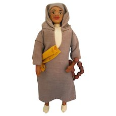 Arnall's Craftsmen of Tangiers Handmade Leather Doll, 1920s-40s